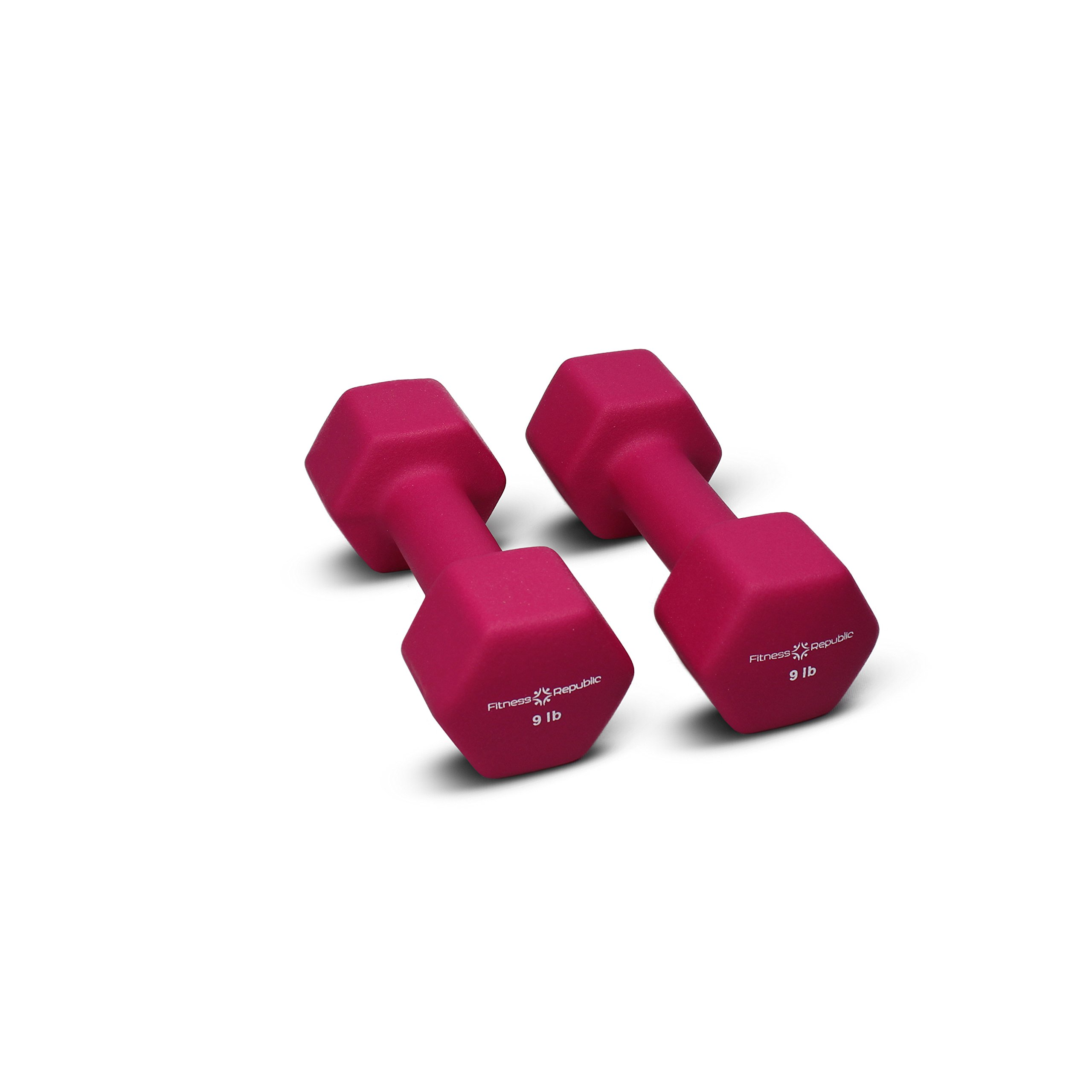 Fitness Republic Neoprene Dumbbells 9 lbs Set (Neoprene Weights)