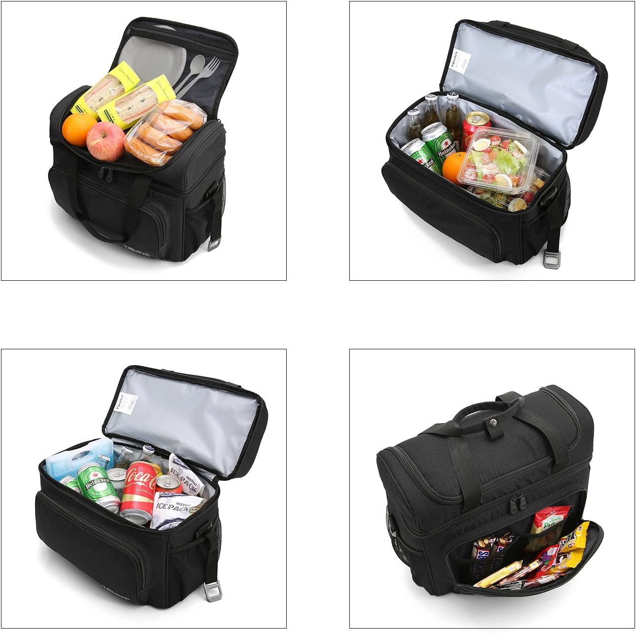 TOURIT Insulated Picnic Cool Bag Leakproof Cooler Bags with Double Handles Large Capacity for Camping Hiking Beach Day Trip 22L
