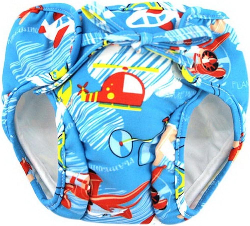 Airplane Gentle Meow Baby Swim Trunks 0-3 Infants Waterproof Swimsuit Leakproof Swim Shorts
