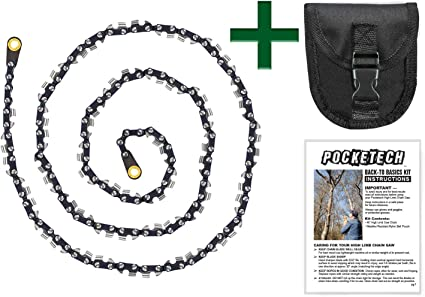 Upgraded 48 Inch High Limb Hand Chain Saw,Pocket Chainsaw Branch Tree Cutter