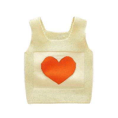 Baby Little Girls SleeveLess Love Heart Sweaters Vest Sweatshirt Pullover