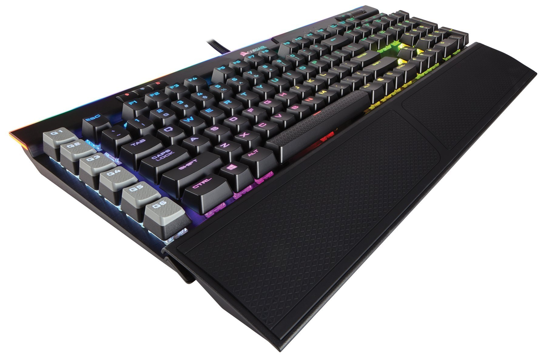 CORSAIR K95 RGB PLATINUM Mechanical Gaming Keyboard - USB Passthrough & Media Controls - Fastest Cherry MX Speed - RGB LED Backlit - Black Finish by Corsair