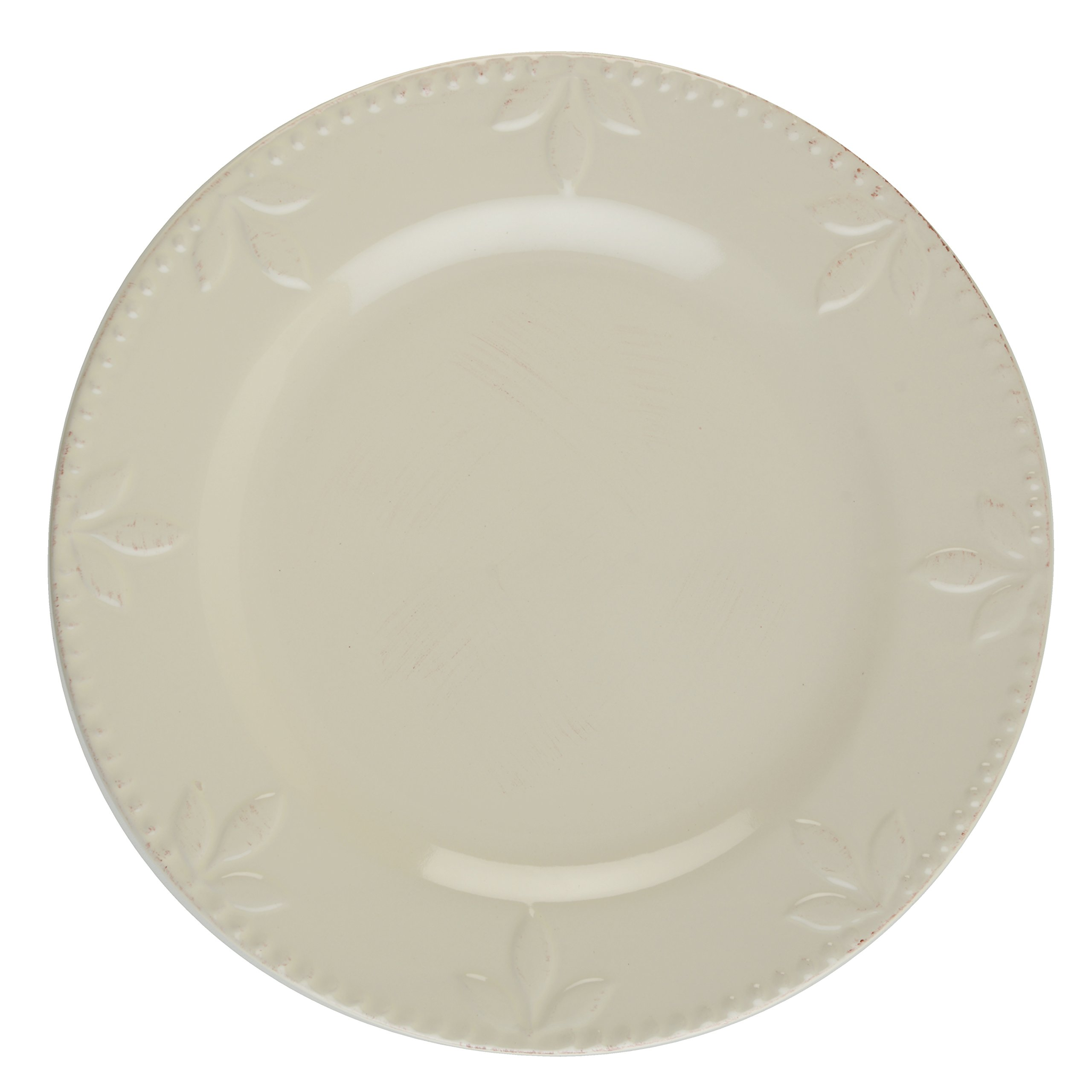 Signature Housewares Sorrento Collection Set of 4 Dinner Plates, 11-Inch, Ivory