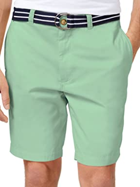 Club Room Mens Twill Flat Front Casual Shorts