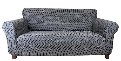 Onda - Funda de sofá elástica (Grigioperla) - 2 plazas (140-170cm)