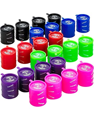 fc2afd5b1f76f4 Kicko Small Barrel of Slime - 24 Pack Assorted Colors - Container 2 Inches  - for
