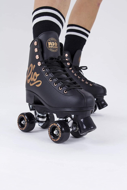 Rio Roller Rose Quad/Roller Skates- Black - 1