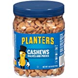 Planters Cashew Halves & Pieces, Salted, 1 Pound and 10 Ounce