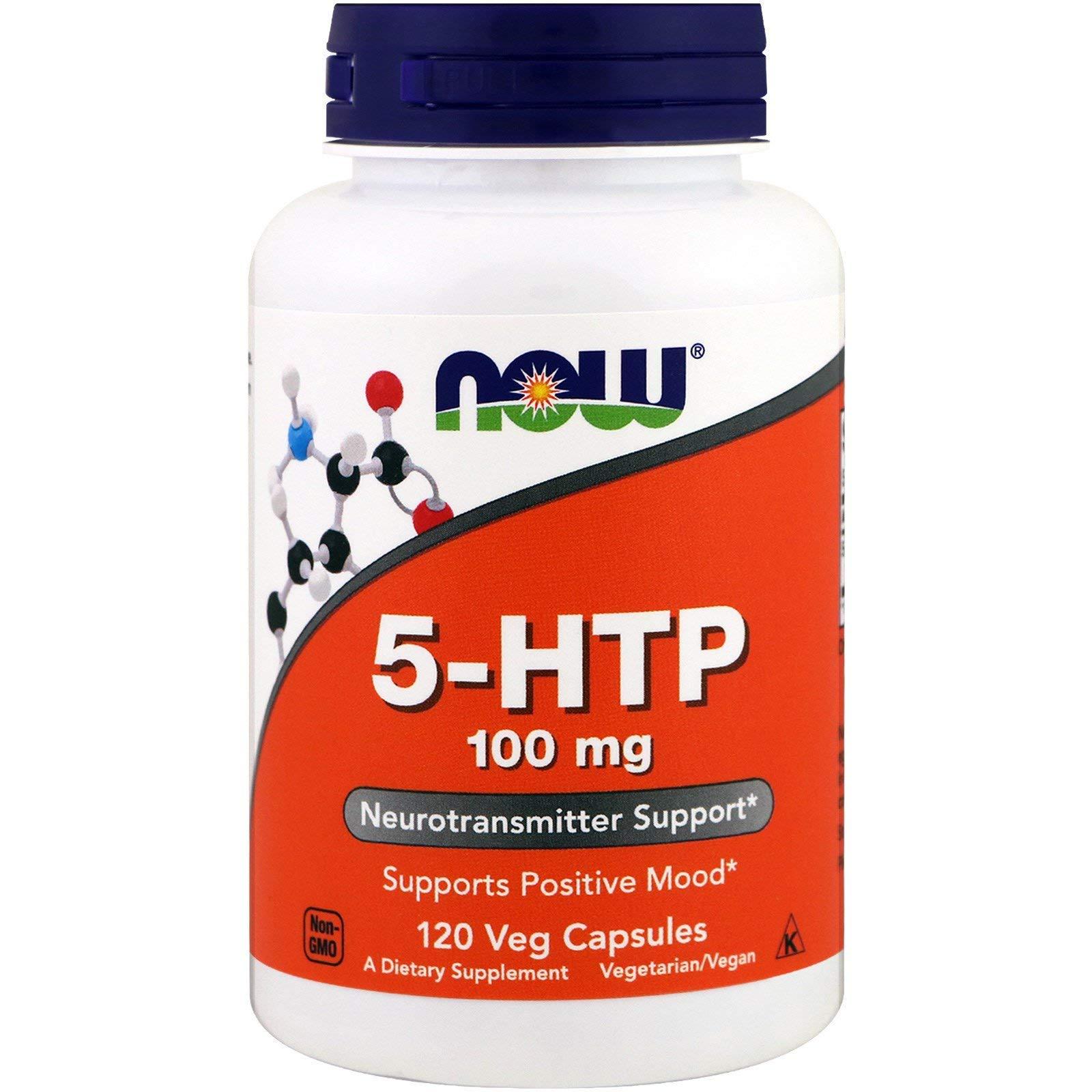 Now Foods, (3 Pack) 5-HTP 100 mg, 120 Veg Capsules