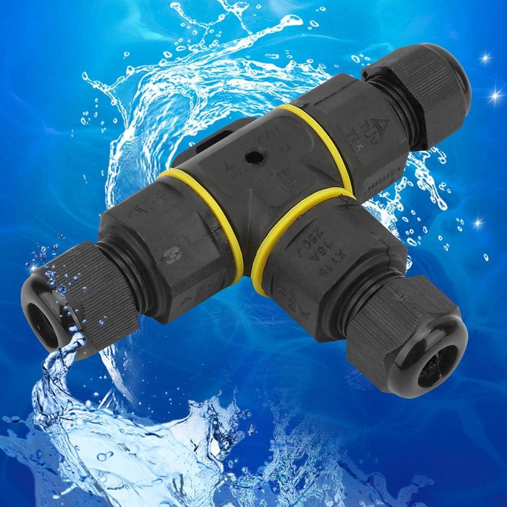 idalinya IP68 /étanche T-forme 3 broches bo/îte de jonction souterraine connecteur de manchon de c/âble