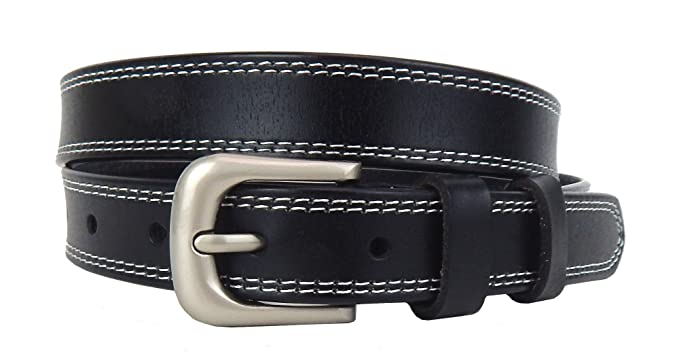 Ella Jonte ceinture femme noir en cuir avec boucle à ardillon 2,3 cm largeur 47e74890ab6