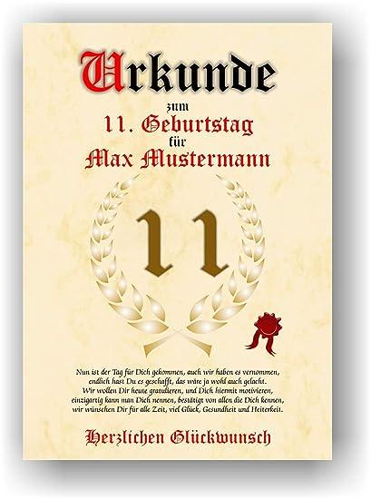Documento del 11 cumpleaños - Tarjeta de felicitación de ...
