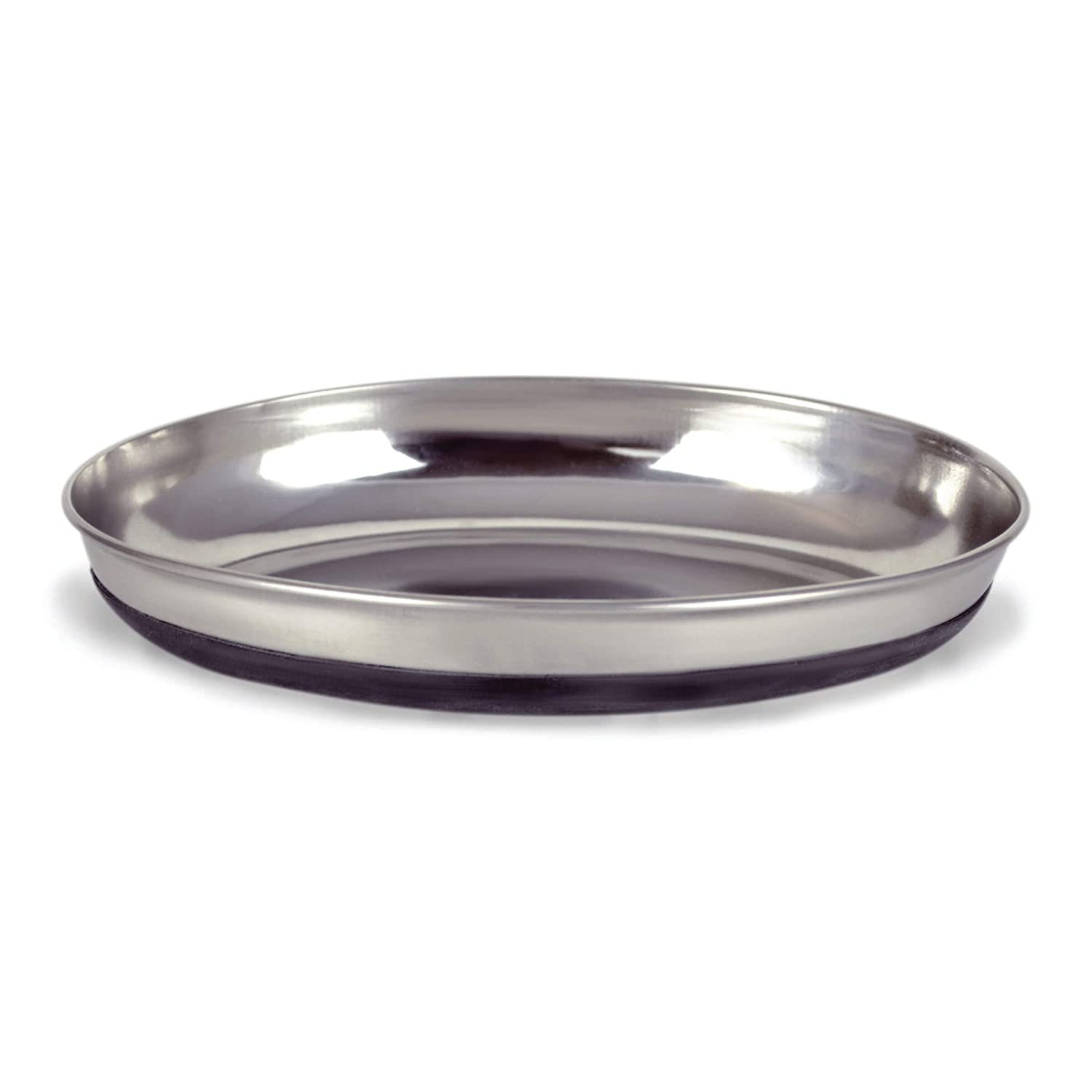 Our Pets Dish Oval Cat Rubber Bottom Pet Bowl
