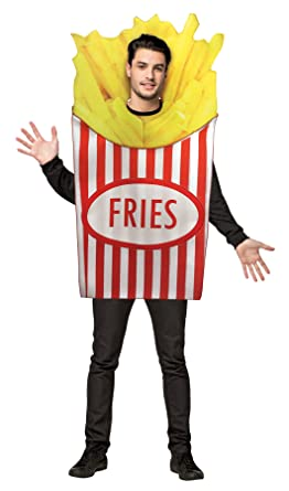Unisex Mens Womens Deep Fried French Fries Adult Costume Halloween Party  sc 1 st  Amazon.com & Amazon.com: Unisex Mens Womens Deep Fried French Fries Adult Costume ...