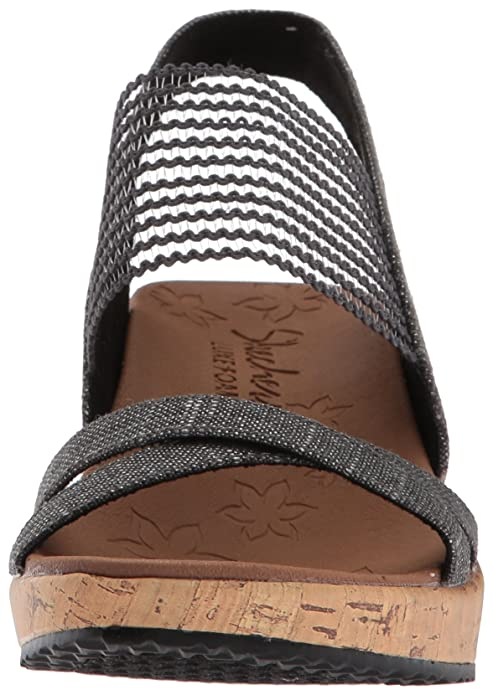 fcac53475 Amazon.com  Skechers Women s Beverlee-High Tea Wedge Sandal  Shoes