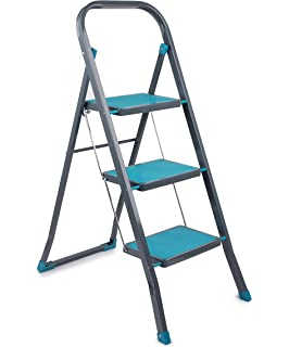 Stupendous Charles Bentley 3 Step Tread Folding Household Step Ladder Squirreltailoven Fun Painted Chair Ideas Images Squirreltailovenorg
