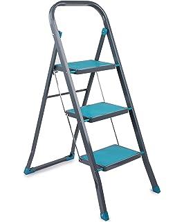Phenomenal Charles Bentley 3 Step Tread Folding Household Step Ladder Machost Co Dining Chair Design Ideas Machostcouk