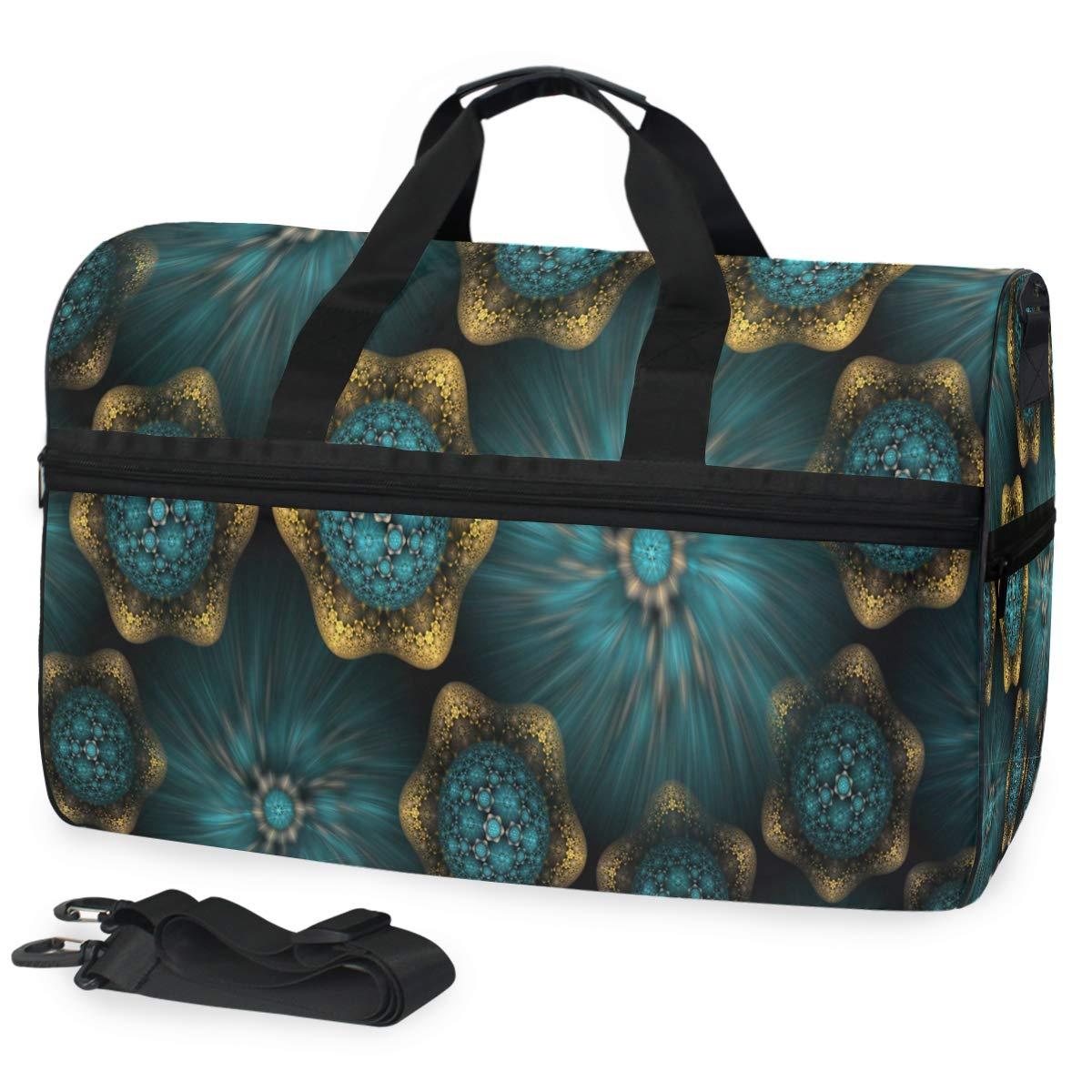 Fractal Art Gym Bags for Men/&Women Duffel Bag Casual Fashion Bag with Shoe Compartment