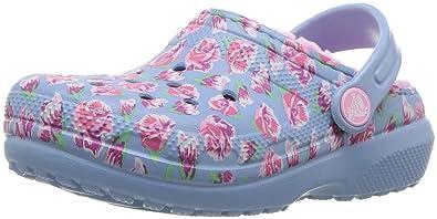786c8366e560d Crocs - Unisex-Enfant Kids  Classic Fuzz Lined Graphic Clog Shoes