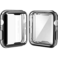 [2-Pack] Julk Case for Apple Watch Series 4 Screen Protector 44mm, 2018 New iWatch Overall Protective Case TPU HD Black…