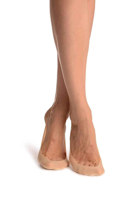 2f21800f7e7 Beige Sling Back Footies Socks - Beige Designer Footsies Socks  Amazon.co.uk   Clothing