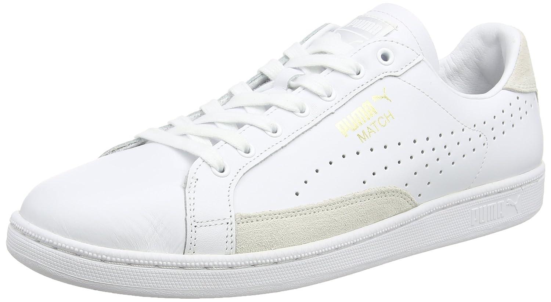 Puma Unisex-Erwachsene Match 74 UPC Sneaker  44.5 EU|Wei? (White-white-gold Foil 10)