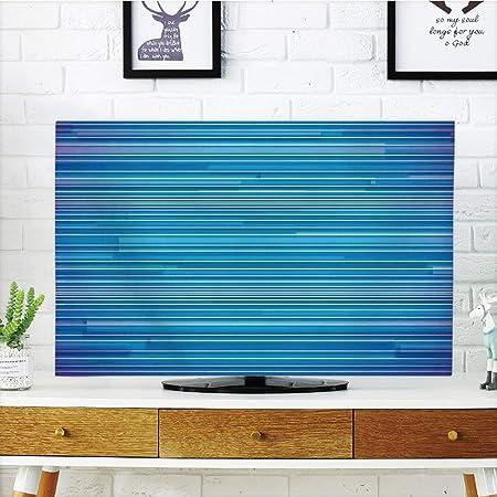 iPrint LCD TV cubierta de polvo, decoración moderna, dos cilindros motor ingeniero Motores Cars Lovers inspirado en foto de imagen, gris y marrón oscuro, diseño de impresión 3D compatible 32 pulgadas TV: