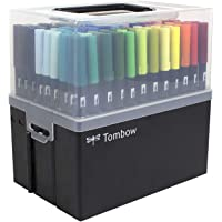 Tombow 56179 108-Piece Dual Brush Pen Set in Marker Case. Complete Collection of Tombow Dual Brush Pens in a Portable Marker Case