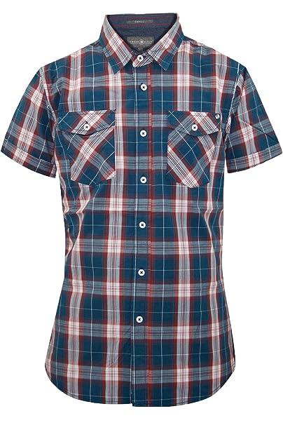 93cb04b3c616b New diseño de Cuadros para Hombre diseño de Camiseta de Agotamiento atenuar  Casual algodón Costura para Camisetas de Mujer de Manga Corta  Amazon.es   Ropa y ...