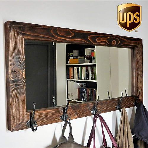 amazon com wood handmade decorative mirror massive solid farmhouse rh amazon com