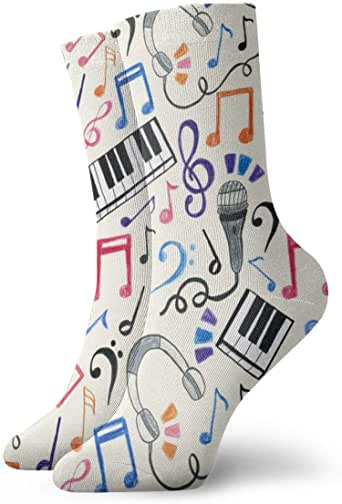 harry wang Calcetines Mujer Cortos Algodón Good Beats - Notas Musicales U0026 Symbols_872Socks Funny Colorful 100% Algodón Antideslizante para Hombre Mujer Talla Única: Amazon.es: Ropa y accesorios