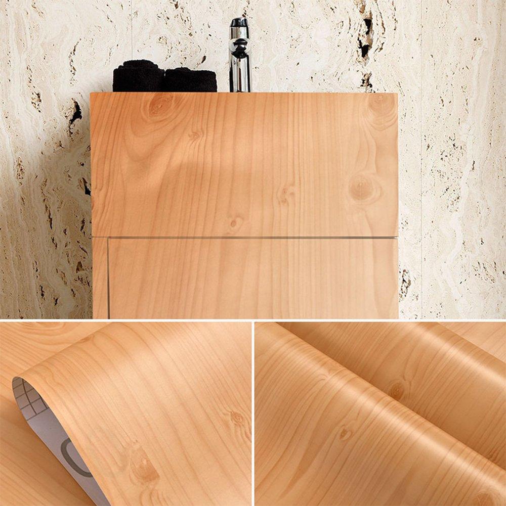 imitation bois contacter papier autocollant étagère Liner couvrant pour armoires de cuisine portes tiroirs Countertop Arts and Crafts 59,7x 429,3cm