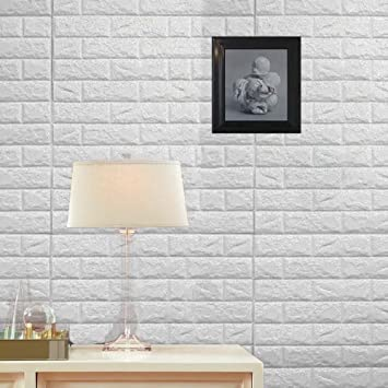 Wall Stickers 10pcs 3d Brick Pe Foam Self Adhesive Wallpaper Removable And Waterproof Art Wall Tiles For Bedroom Living Room Background Tv Decor