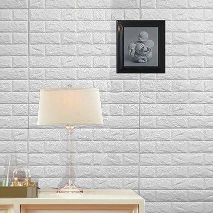 Amazon.com: 10PCS 3D Brick Wall Stickers PE Foam Self-adhesive ...