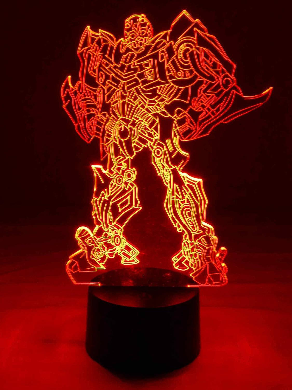 Transformers Lampe Led 3d Originale Transformers Super Heros Comme