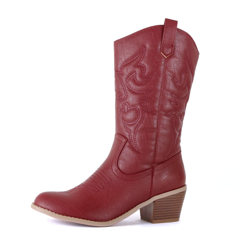 Burgundy Pu West Blvd Miami Cowboy Western Boots