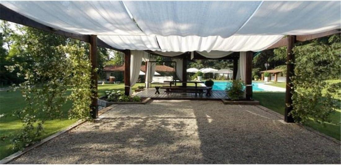 Jardin202 4 m. de Ancho - Malla de sombreo Blanca - Metro Lineal: Amazon.es: Jardín