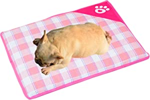 nononfish Dog Cooling Pads or Mats Grip Bottom Cozy Sleeping Cushion for Puppy Cat Kitten and Other Small Pets