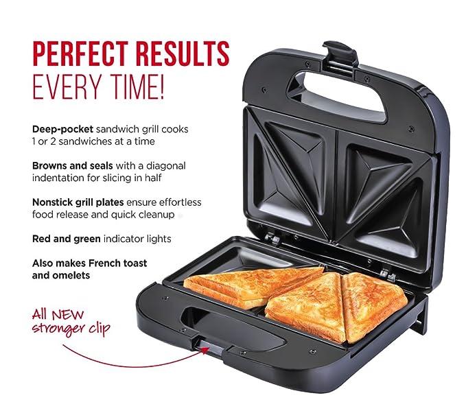 Amazon.com: chefman rj01-b sandwichera, color negro: Kitchen ...