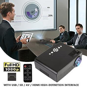 Hanbaili (US Plug) 3000 lúmenes Mini proyector LCD ...