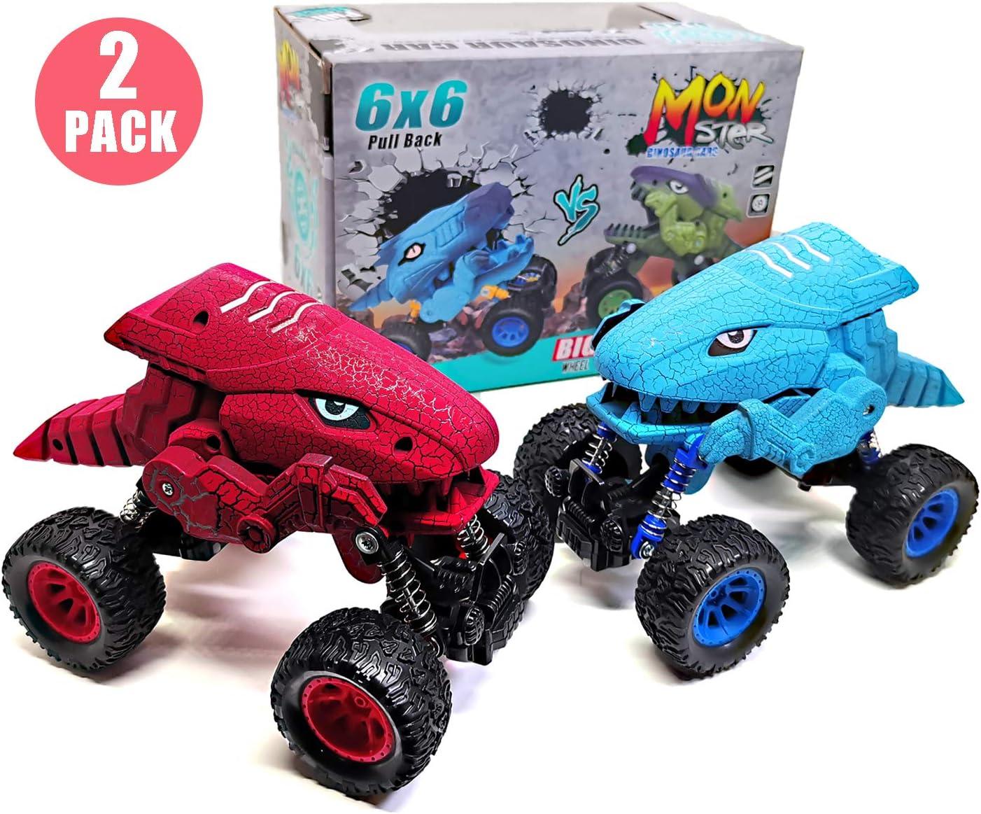 CYKT Dinosaur Toys for Boys, New Model Dinosaur Pull Back, Mejores Regalos para niños de 3-6 años, Regalos de cumpleaños más Populares para niños de 3, 4, 5, 6, 7 (Paquete de 2)