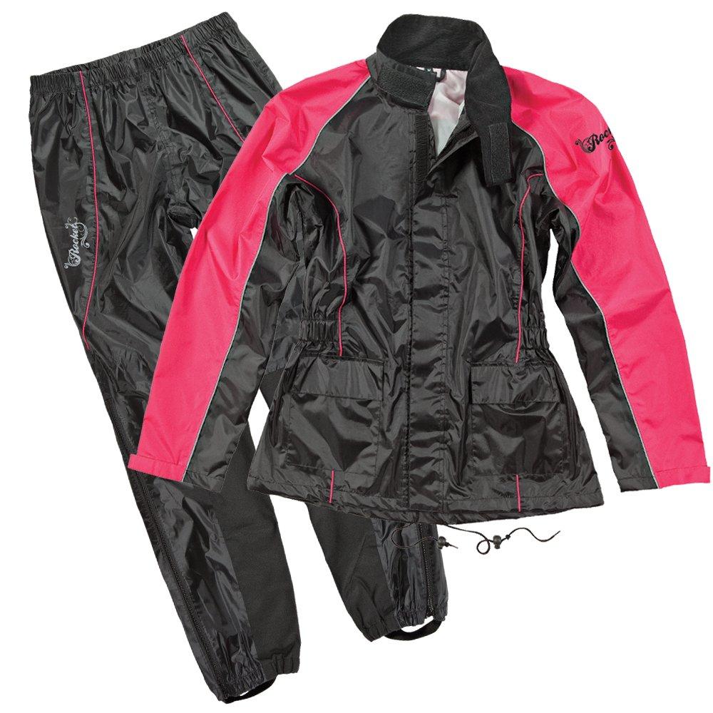 Joe Rocket RS2 Womens 2-Piece Motorcycle Rain Suit (Black/Pink, XX-Large) by Joe Rocket