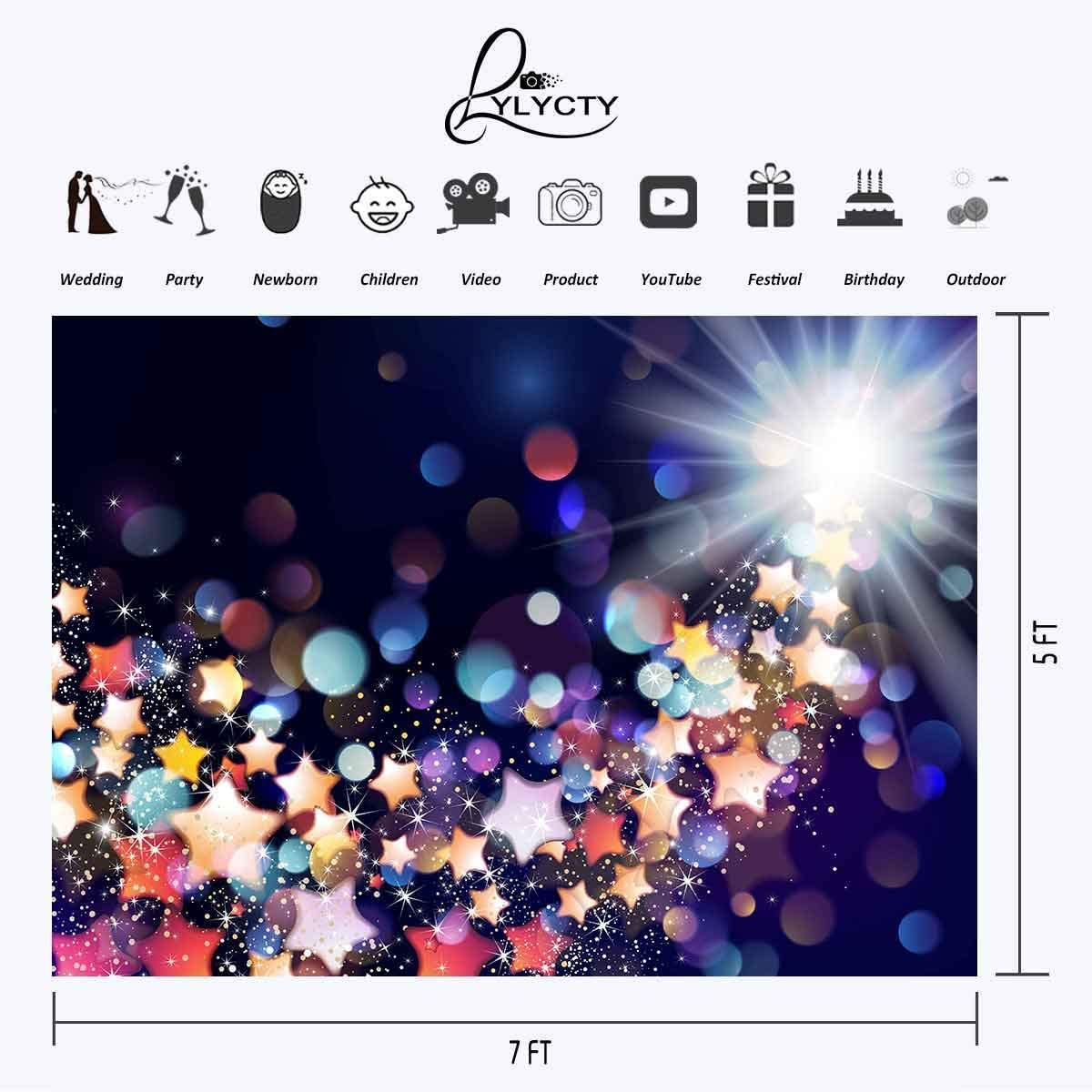 6x4ft Vinyl Abstract Colored Backdrop Festival Celebration Photography Background Customized Photo Shooting Props LYZY0288 for Party Decoration Birthday YouTube Videos School Photoshoot Photo Backgrou