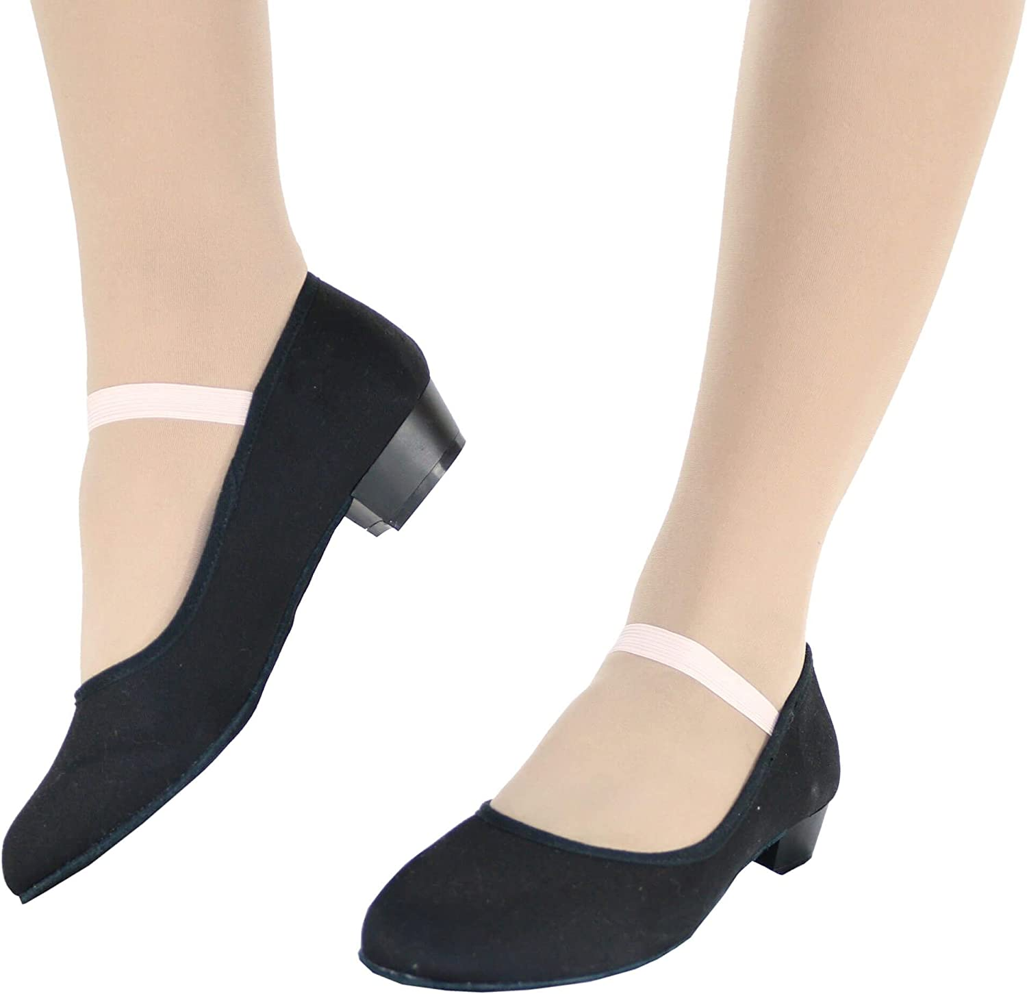 Danzcue Adult Canvas Elastic Strap Character Teacher Shoes