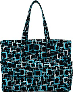 product image for X-Large Tote by Stephanie Dawn, Made in USA, Quilted Cotton Fabric, XL, Zipper Closure, Handcrafted, Reusable, Washable