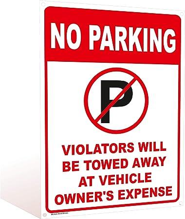 Amazon.com: No Parking Sign - Violators Will Be Towed at Own ...