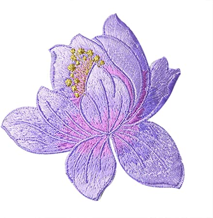 1PC~PURPLE AUTUMN LEAF~IRON ON EMBROIDERED APPLIQUE