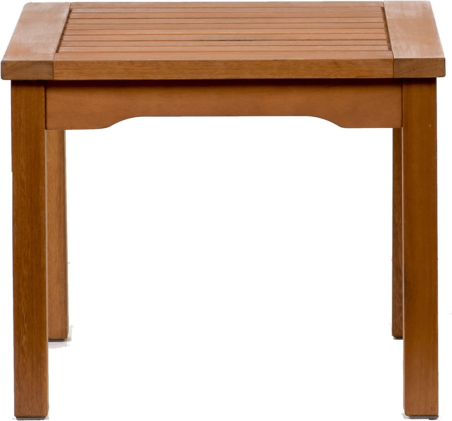 Amazonia Square and Durable Side Table Super Quality Eucalyptus Wood Perfect for Patio and backayard