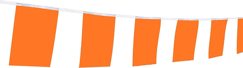 Flag Orange Colour, 100Feet/76Pcs Pure Solid Orange Pennant Banner,Color Decoration,Bar Decoration,Indoor and Outdoor, Home Decoration,DIY