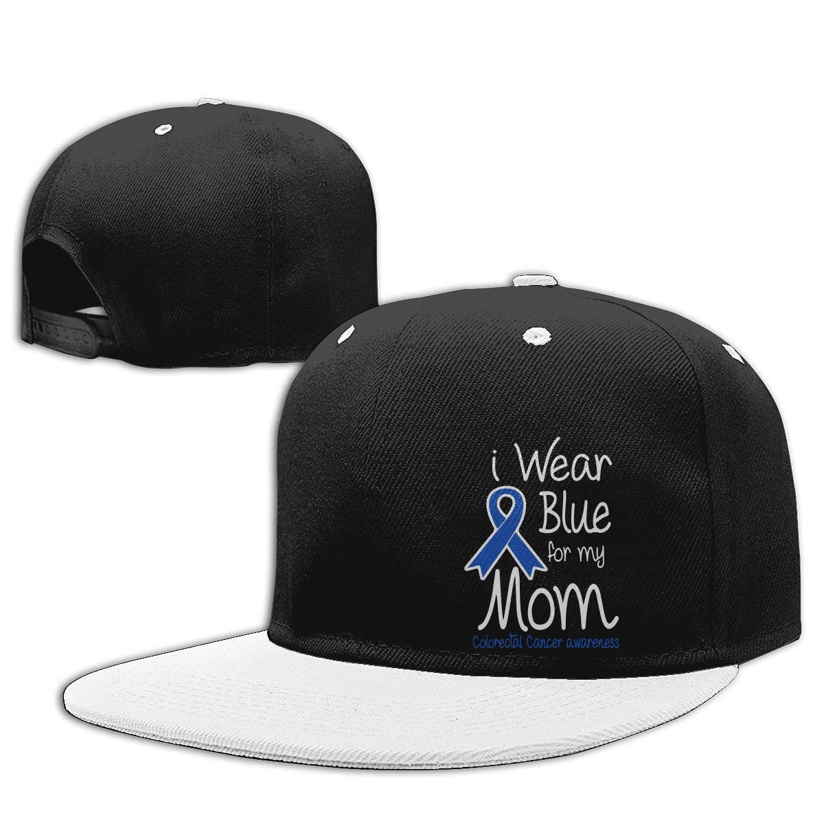 NMG-01 Men Womens Plain Cap I Wear Blue for My Mom Colorectal Cancer Awareness Fashion Hip Hop Baseball Caps